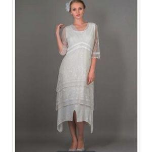 NWT Nataya Ivory Titanic Era Dress 5901 Size M